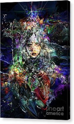 Pleiadian Bird Tribe Priestess Canvas Print