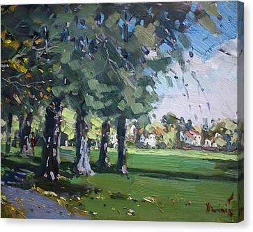 Plein Air At Jayne Park In Cayuga Island  Canvas Print