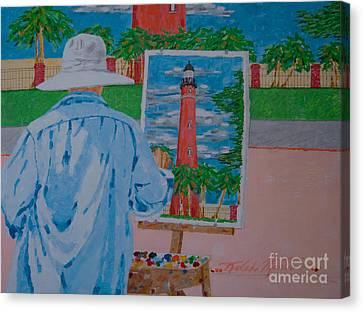 Portratis Canvas Print - Plein-air Painter by Art Mantia