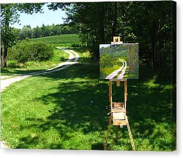 Plein Air Painter's Studio Canvas Print