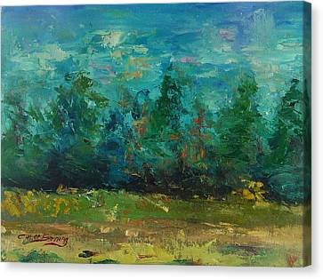 Canvas Print featuring the painting Plein Air With Palette Knives by Carol Berning