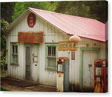 Grocery Store Canvas Print - Plemmons Grocery by Valerie Reeves