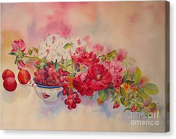 Canvas Print featuring the painting Plentiful by Beatrice Cloake