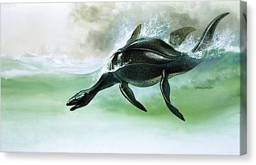 Plesiosaurus Canvas Print by William Francis Phillipps