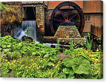 Plimouth Grist Mill Canvas Print