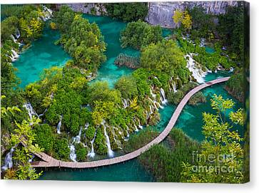 Plitvice Boardwalk Canvas Print by Inge Johnsson