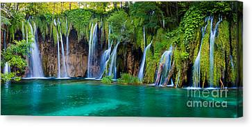 Lush Colors Canvas Print - Plitvice Panorama by Inge Johnsson