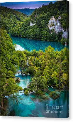 Plitvice Twilight Canvas Print by Inge Johnsson