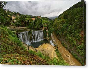 Pliva Waterfall, Jajce, Bosnia And Herzegovina Canvas Print