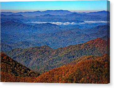 Plott Balsam Overlook In Autumn Canvas Print