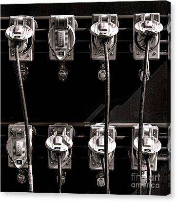 Plugged In Canvas Print by Olivier Le Queinec