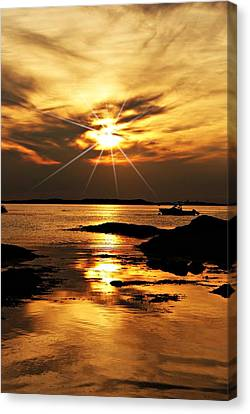 Plum Cove Beach Sunset E Canvas Print