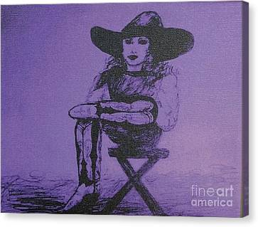 Plum Cowgirl Canvas Print by Susan Gahr