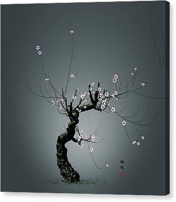 Plum Flower 0204 Canvas Print