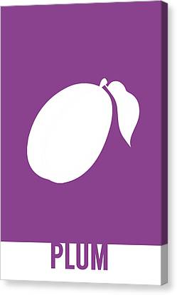 Plum Food Art Minimalist Fruit Poster Series 014 Canvas Print by Design Turnpike