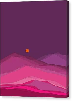 Plum Hills II Canvas Print