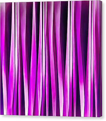 Plum Purple And Burgundy Stripy Lines Pattern Canvas Print
