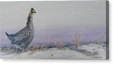 Plum Skies On The Prairie Canvas Print by Rob Dreyer AFC