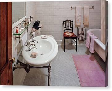 Plumber - The Bathroom  Canvas Print by Mike Savad