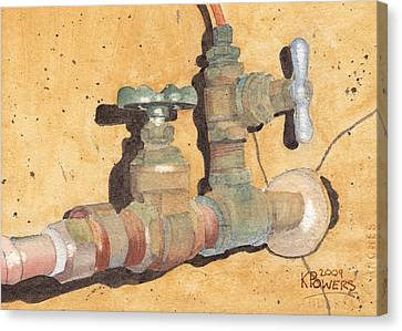Plumbing Canvas Print by Ken Powers