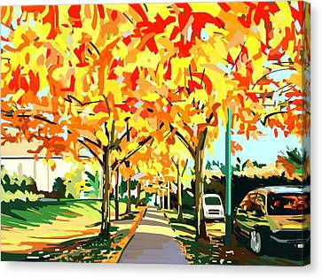 Plumes Of Leaves Canvas Print