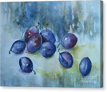 Plums Canvas Print by Elena Oleniuc