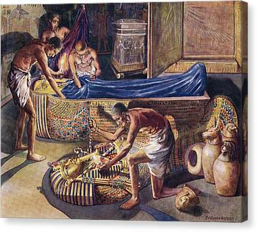 Plundering Pharaoh Theban Tomb Robbers Canvas Print by Vintage Design Pics