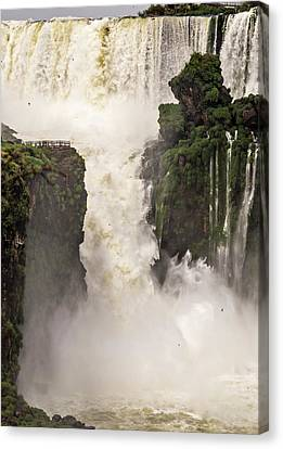 Canvas Print featuring the photograph Plunge by Alex Lapidus