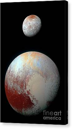 Canvas Print featuring the photograph Pluto And Charon by Nicholas Burningham