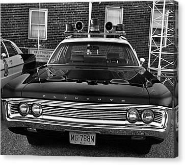 Plymouth Police Car Canvas Print