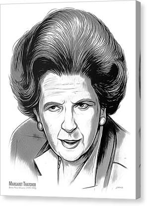Pm Margaret Thatcher Canvas Print by Greg Joens