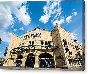 Pnc Park Pittsburgh Pennsylvania Canvas Print by Amy Cicconi