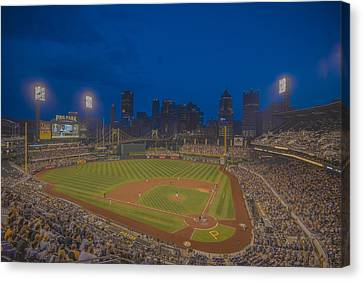 Pittsburgh Pirates Canvas Print - Pnc Park Pittsburgh Pirates C by David Haskett