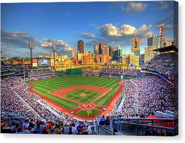 Baseball Canvas Print - Pnc Park by Shawn Everhart
