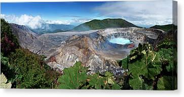 Volcano Rock Canvas Print - Poas Volcano by Kryssia Campos
