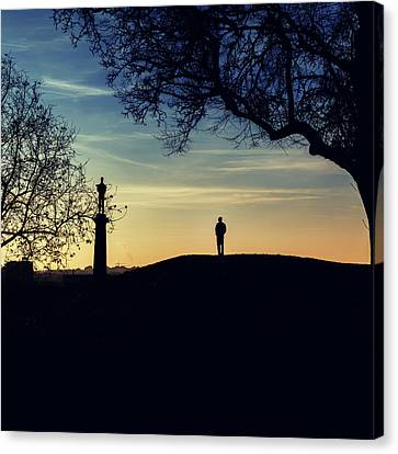 Pobednik Statue Canvas Print by Stelios Kleanthous