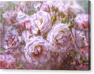 Pocket Full Of Roses Canvas Print by Kari Nanstad