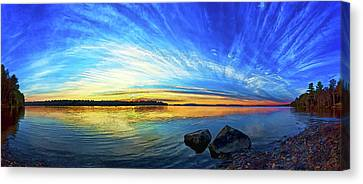 Pocomoonshine Sunset 1 Canvas Print by ABeautifulSky Photography