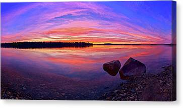 Pocomoonshine Sunset 2 Canvas Print by ABeautifulSky Photography
