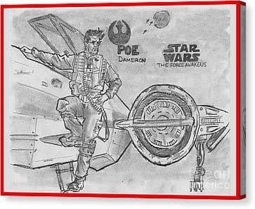 Poe Dameron Canvas Print by Chris  DelVecchio