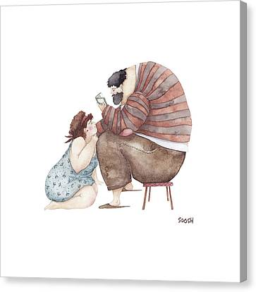 Poem Reading Canvas Print by Soosh