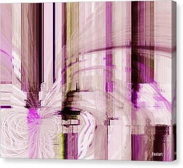 Canvas Print featuring the digital art Poetic Rain by Fania Simon