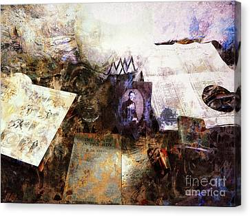 Poets In Picardy Canvas Print by Claire Bull