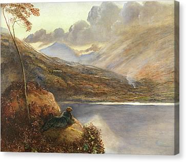 Poet's Rest Place Canvas Print by James Smetham