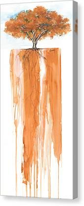 Poinciana Tree Orange Canvas Print by Anthony Burks Sr
