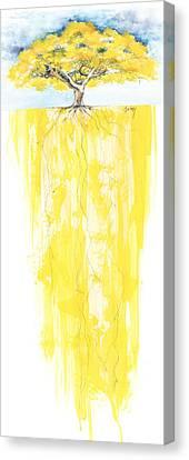 Poinciana Tree Yellow Canvas Print by Anthony Burks Sr