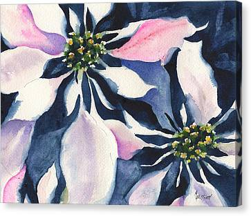 Poinsettias Canvas Print - Poinsettia by Marsha Elliott