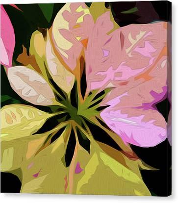 Poinsettia Tile Canvas Print