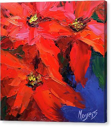Poinsettias Canvas Print by Mike Moyers