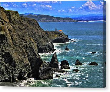 Canvas Print featuring the photograph Point Bonita Lighthouse by Richard Stephen